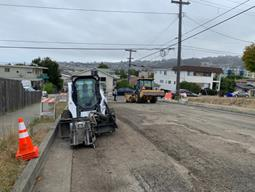 Prepping for paving on south 58th