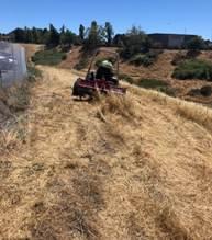 Weed abatement Hilltop Lake 2