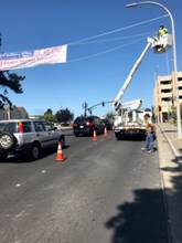 Macdonald Ave east of 16th street Banner installation