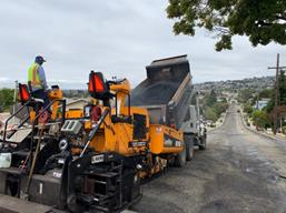 Paving operations on South 58th (4)