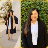 A collage of a person in a graduation gown    Description automatically generated with low confidence