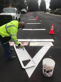Aproach Lines install at Hillview Dr Project