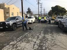 Pothole filling on 4900 blk Clinton