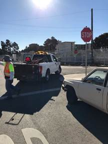 Portola and 1t Street Stop sign Knock down replace
