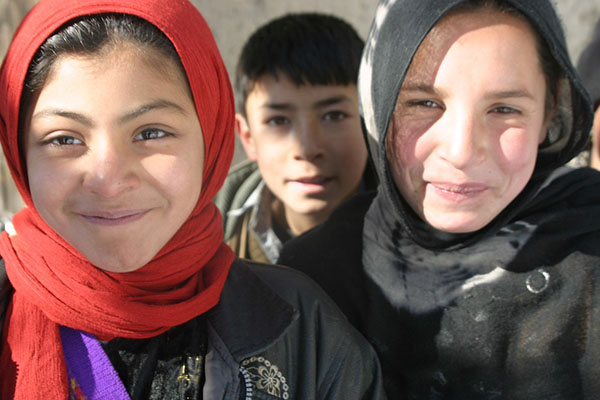 Two girls, Afghanistan