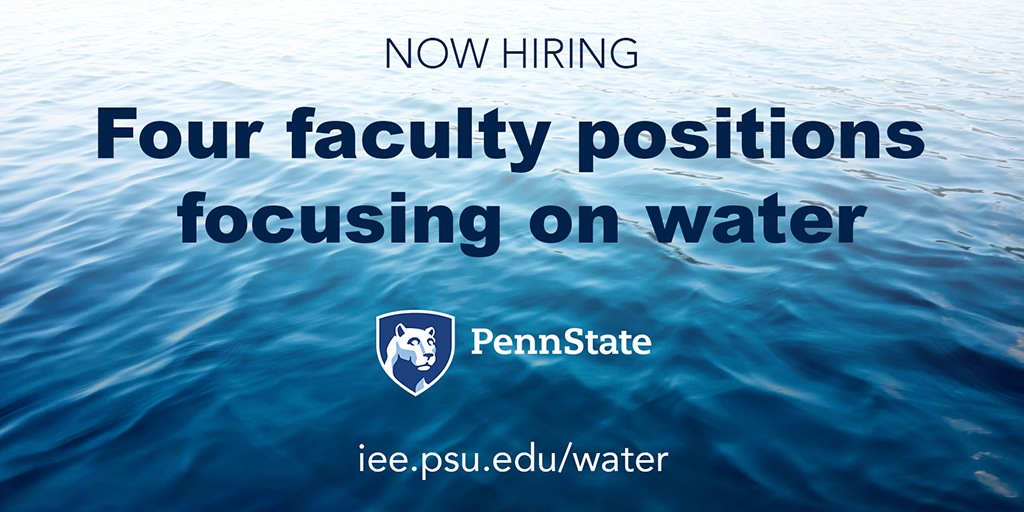 Four faculty positions focusing on water