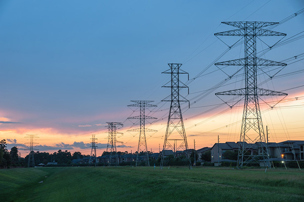 High tension electrical wires