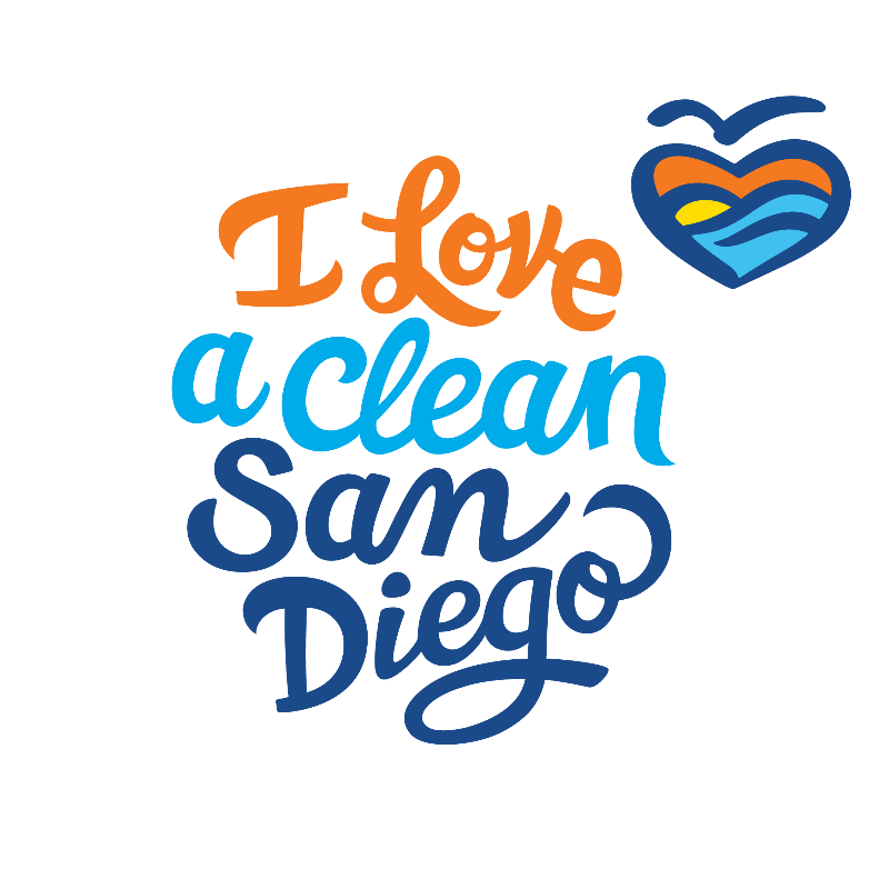 Logo for I Love a Clean San Diego