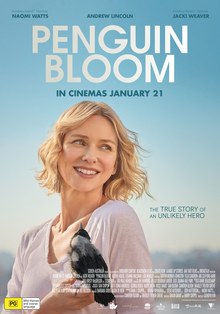 Movie poster for Penguin Bloom, featuring Naomi Watts starring as Sam Bloom.