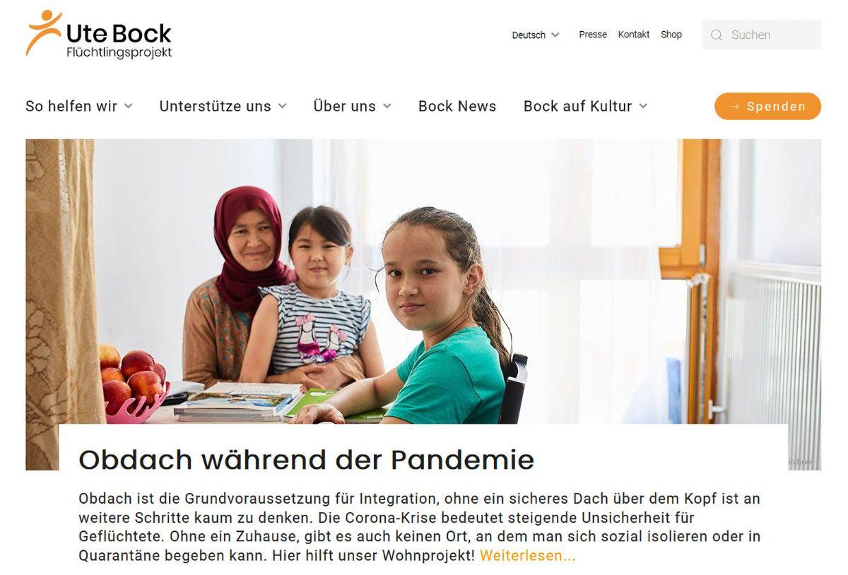 Screenshot www.fraubock.at