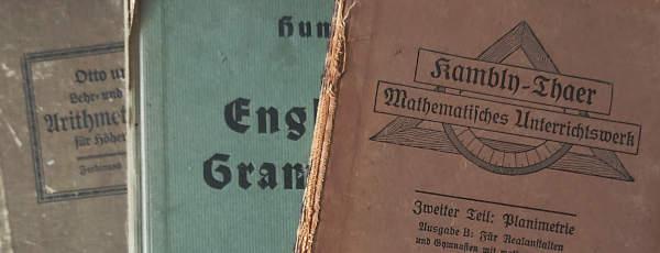3 Schulbücher aus dem frühen 20. Jahrhundert
