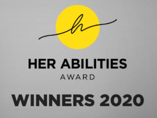 her abilities award banner