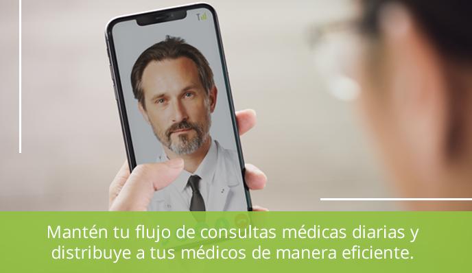 Mantén tu flujo de consultas médicas diarias y distribuye de manera eficiente