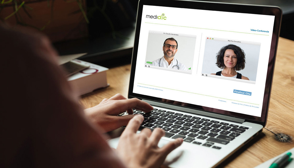 Atención médica por web