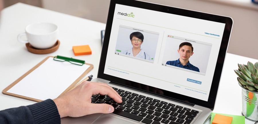 Videoconsulta médica a través de plataforma web Mediclic