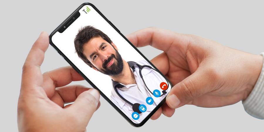 Videoconsultas con doctor a través de app Mediclic para smartphone