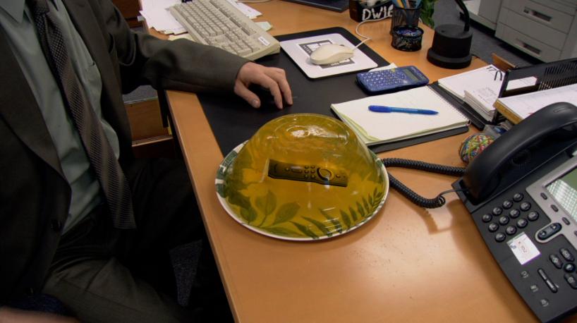 Fire TV stick embedded in jello