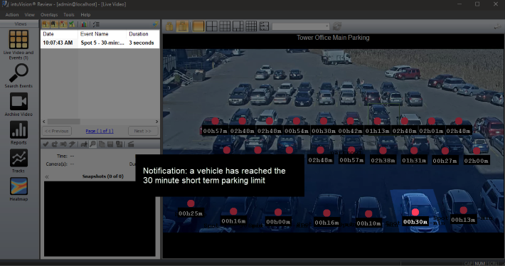 Graphs showcasing intuVision vehicle counting and speed detection.