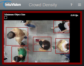 intuVision Edge Crowd Density Detector in use.