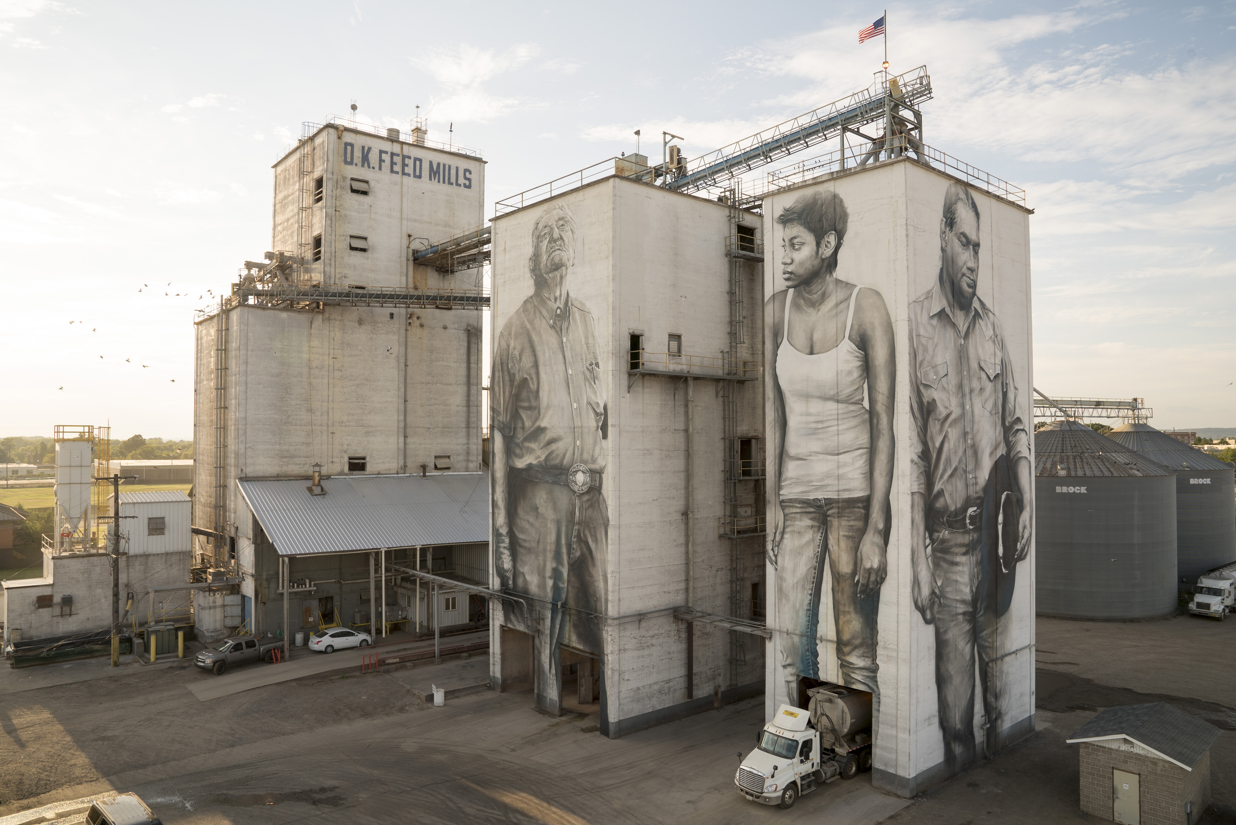 A mural created by Guido van Helten in Fort Smith, AR   Photo from Guido van Helten