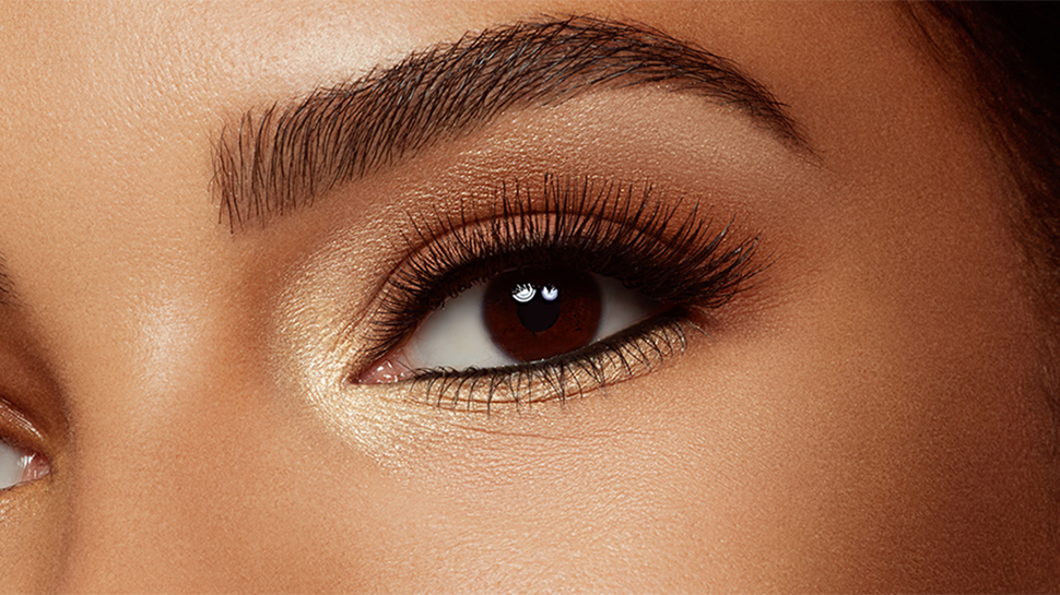 Woman's eye with makeup