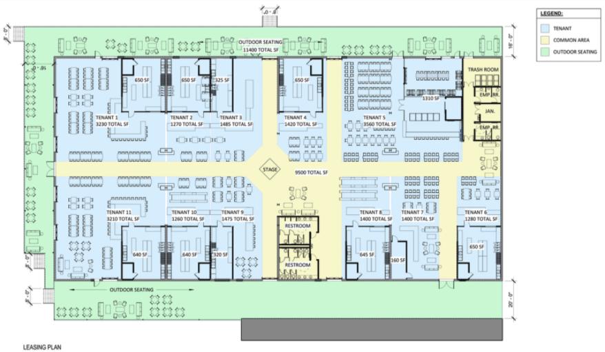 Floor plan of Hammett Street Market courtesy of SVN | BlackStream