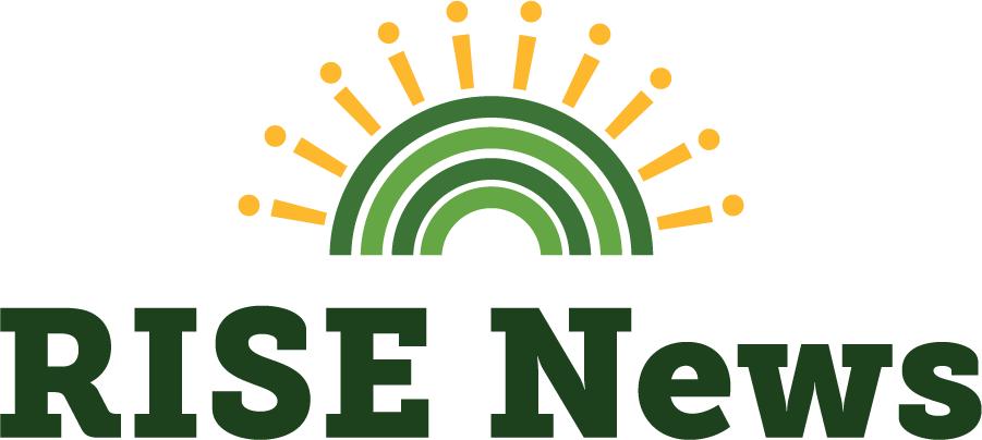 RISE News with rising sun logomark
