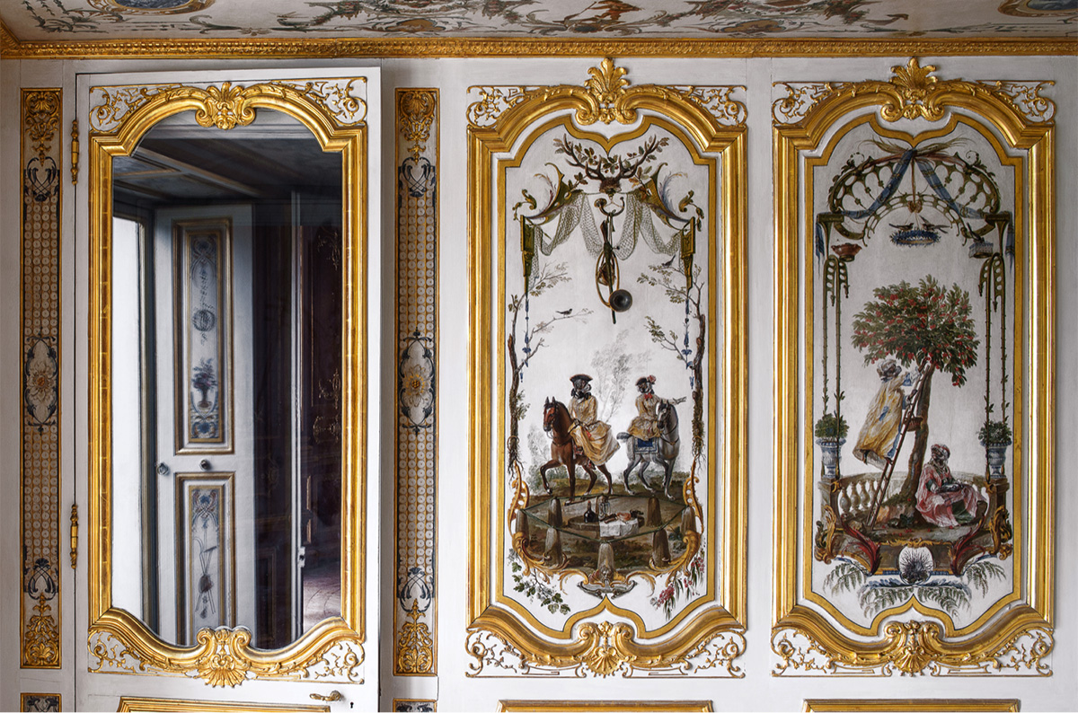 Interior view of Château de Chantilly