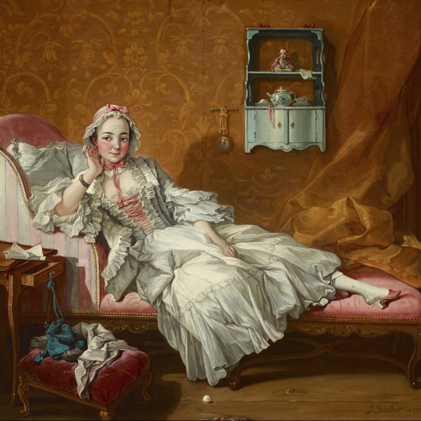A Lady on Her Day Bed