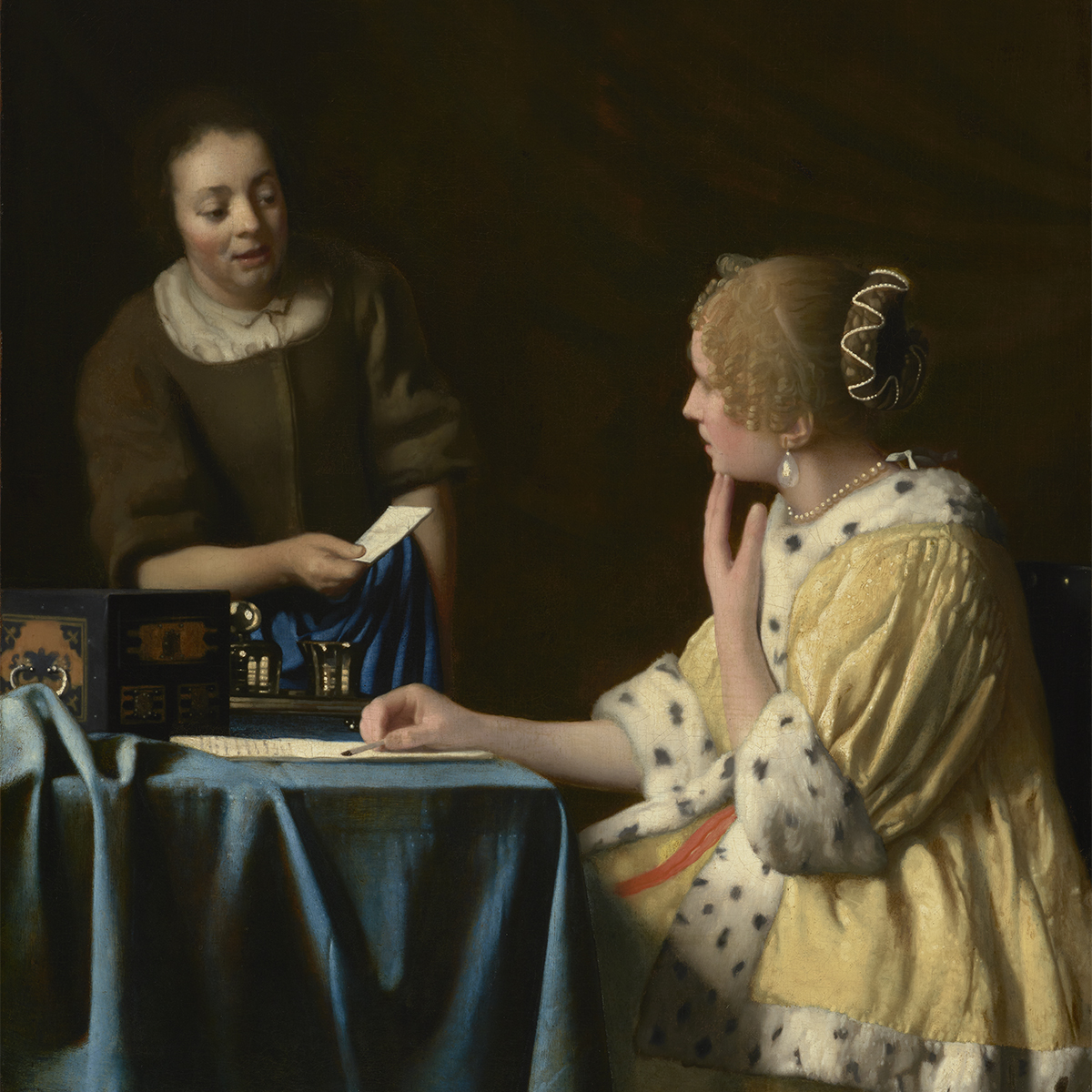 Vermeer's Mistress and Maid