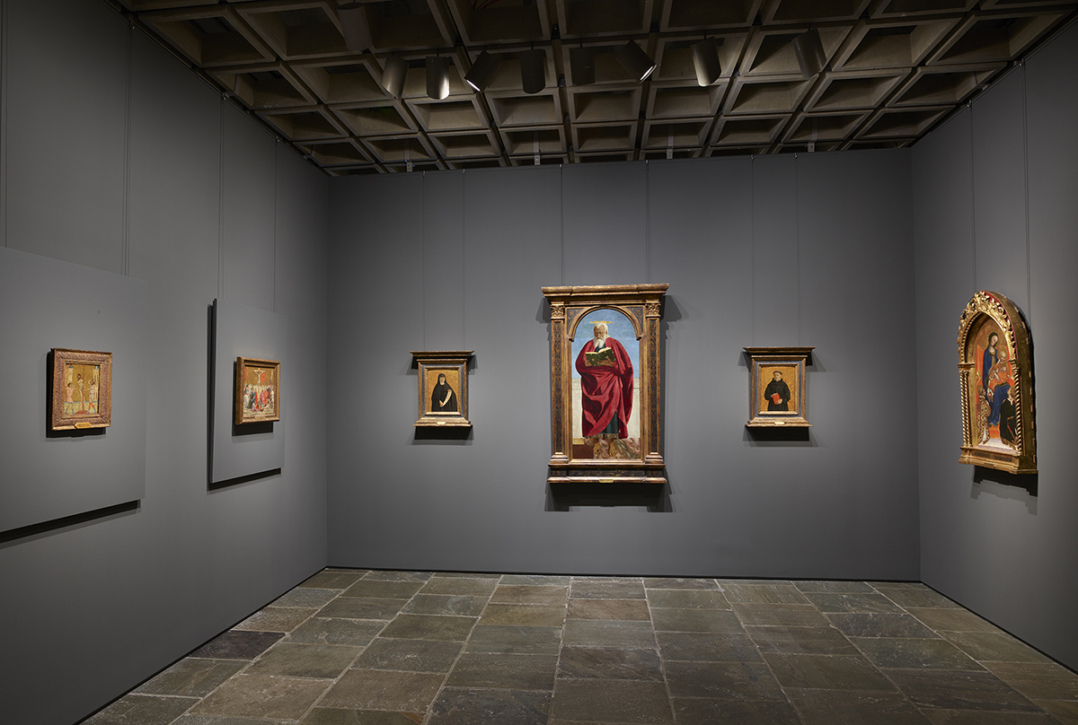 Installation view of Early Renaissance Paintings at Frick Madison