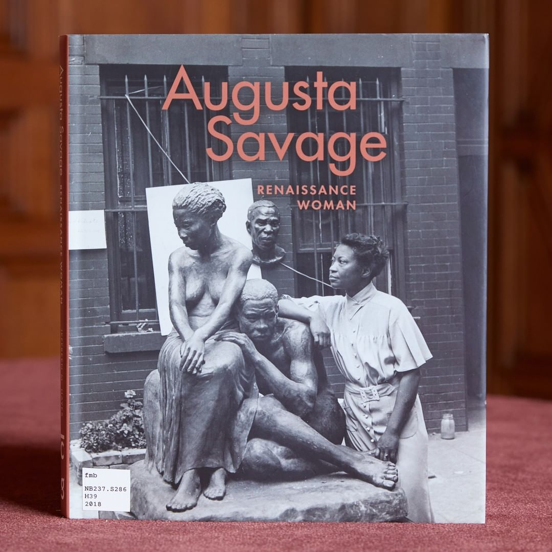 "Photograph of the book ""Augusta Savage: Renaissance Woman"""