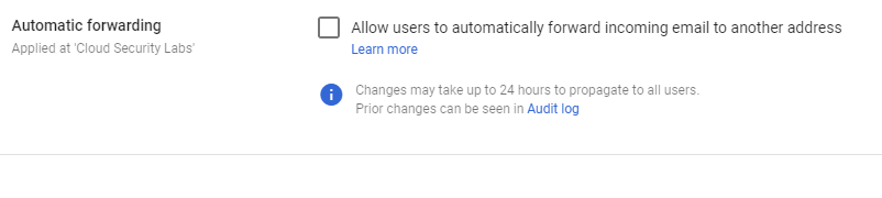 automatic forwarding in Gmail