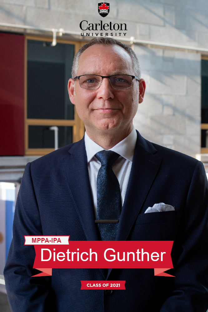 Dietrich Gunther. MPPA-IPA graduate, class of 2021