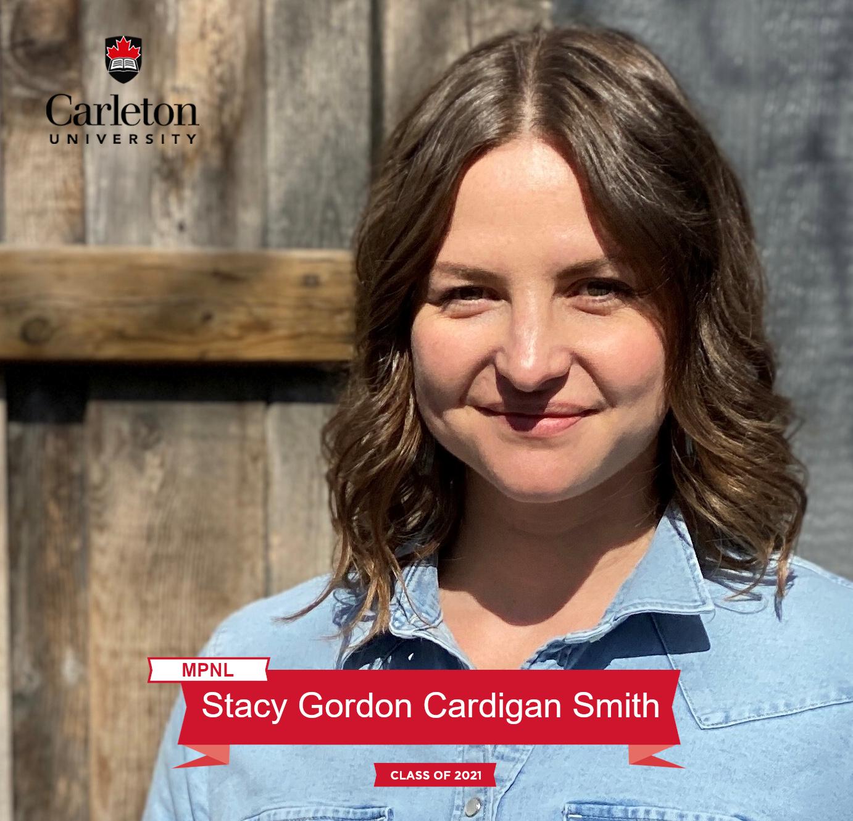 Stacy Gordon Cardigan Smith. MPNL graduate, class of 2021