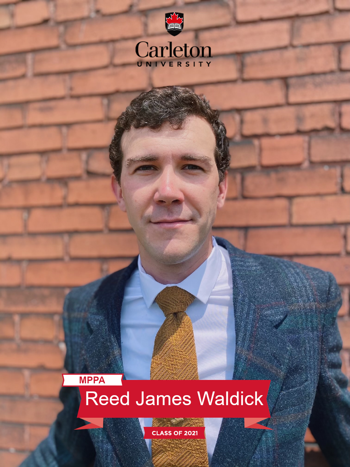 Reed James Waldick. MPPA graduate, class of 2021