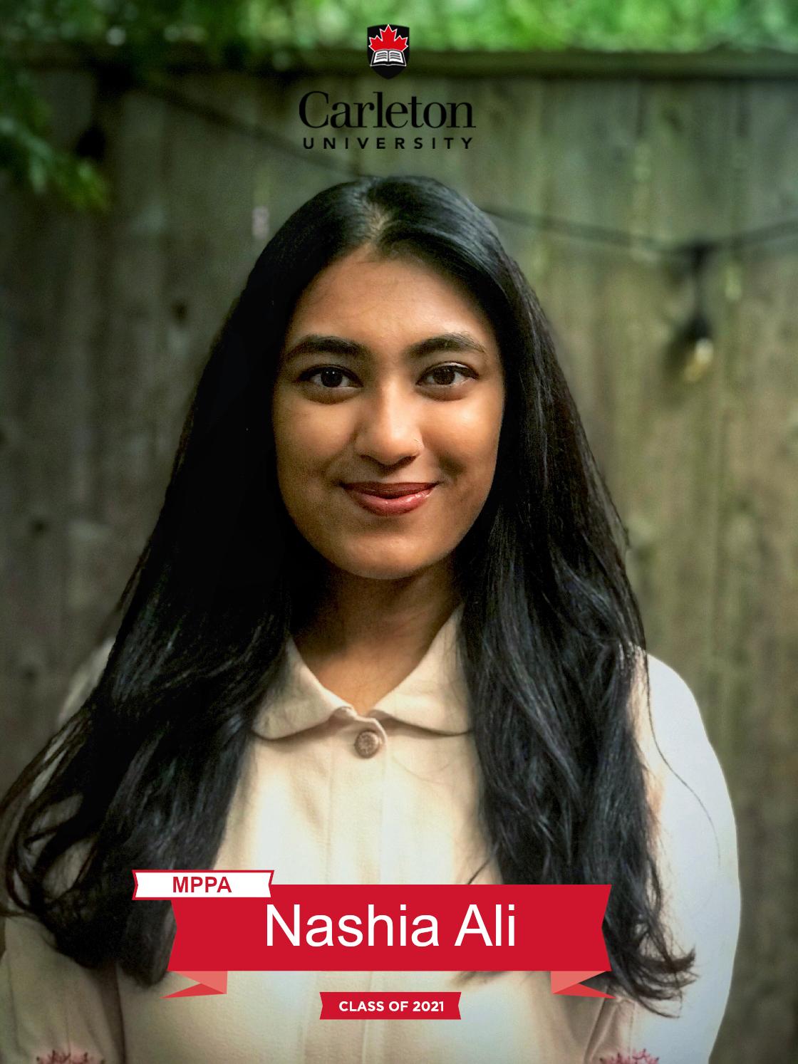 Nashia Ali. MPPA graduate, class of 2021