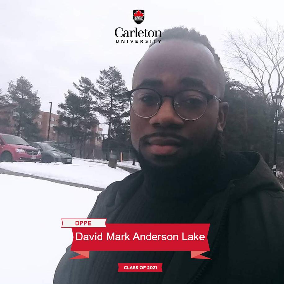 David Mark Anderson Lake. DPPE graduate, class of 2021