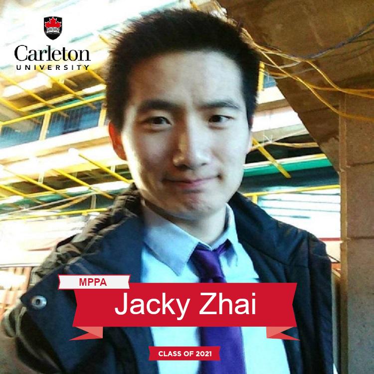 Jacky Zhai. MPPA graduate, class of 2021
