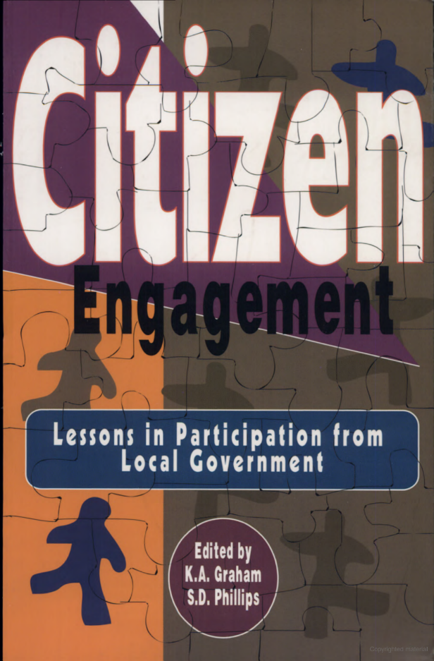 Citizen engagement: Lessons in Participation from Local Government