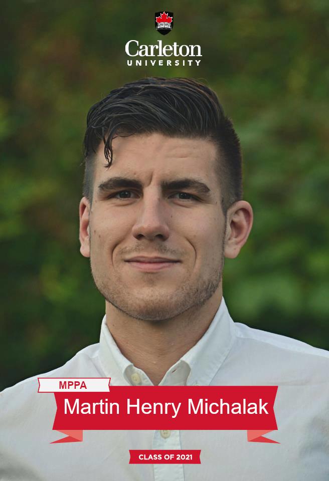 Martin Henry Michalak. MPPA graduate, class of 2021