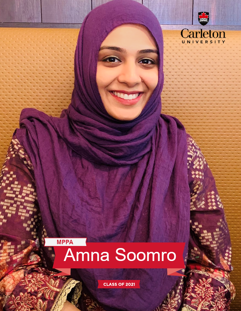 Amna Soomro. MPPA graduate, class of 2021