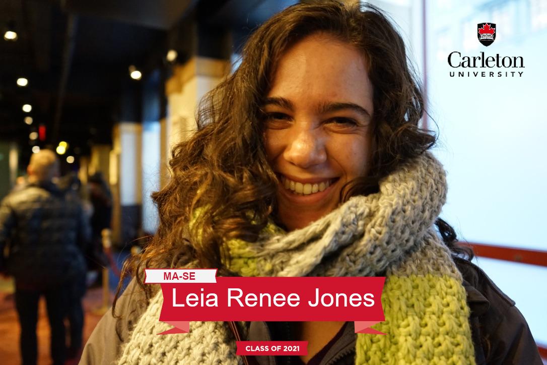 Leia Renee Jones. MA-SE graduate, class of 2021