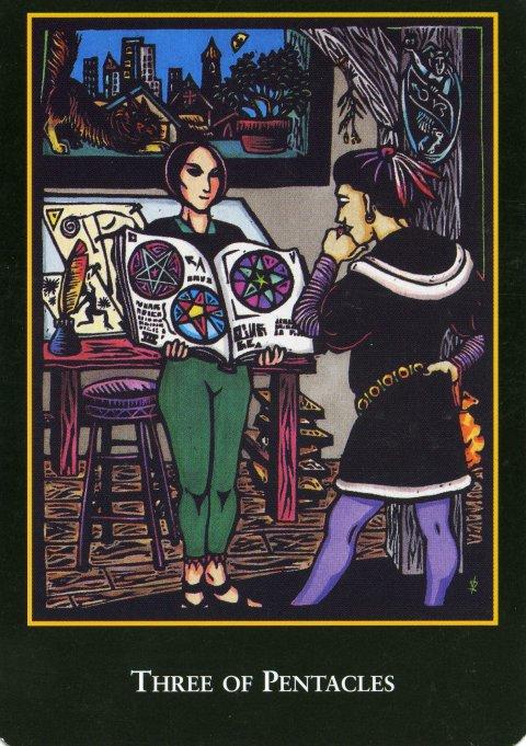 Three of Pentacles World Spirit Tarot