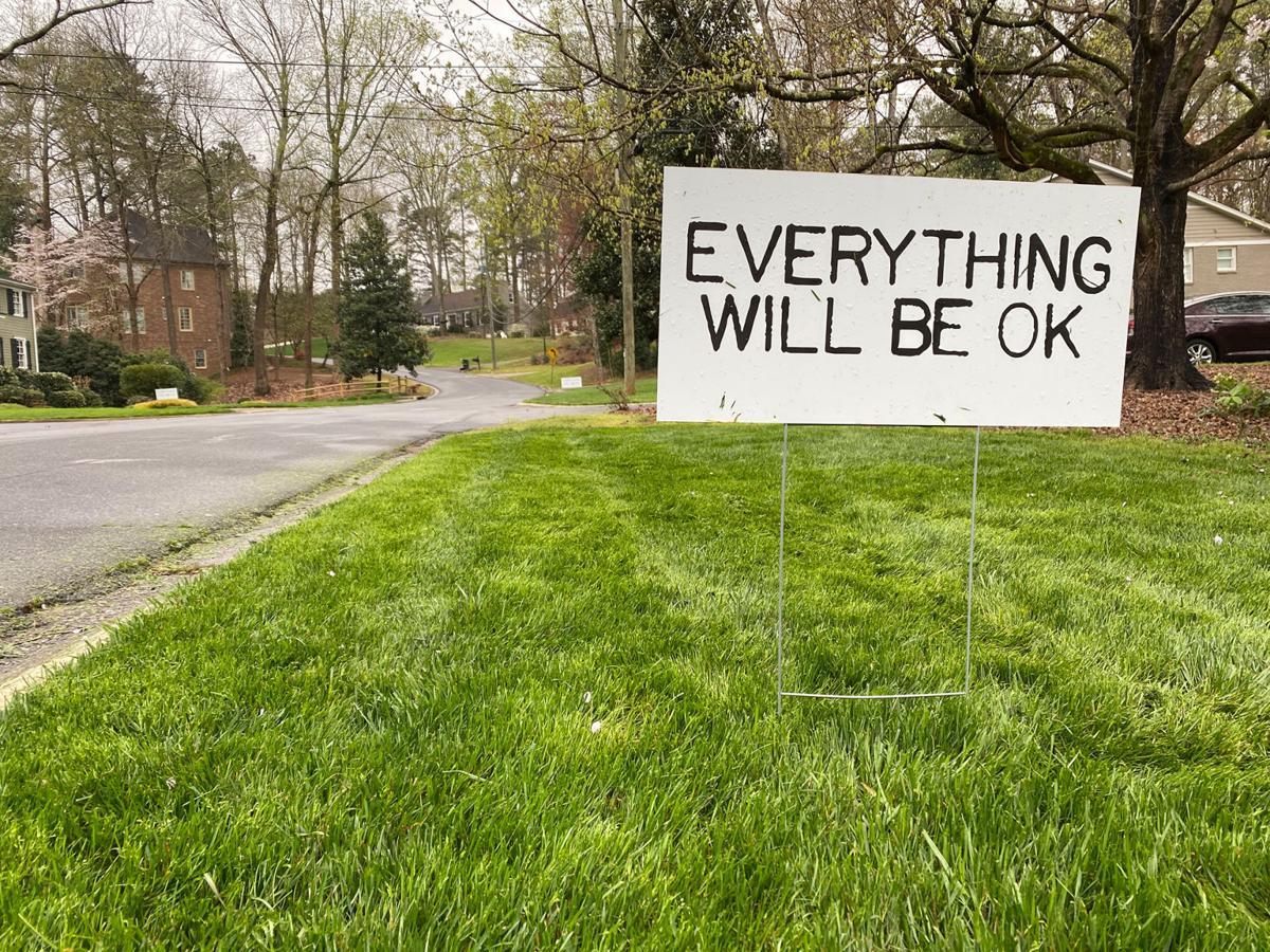 A reassuring yard sign in Dunwoody, GA. Via Davey Sherwinter with Create Dunwoody.
