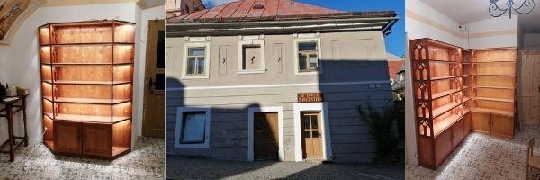 Práce na interiéri kamenného obchodíka U troch zvieratiek Banská Štiavnica