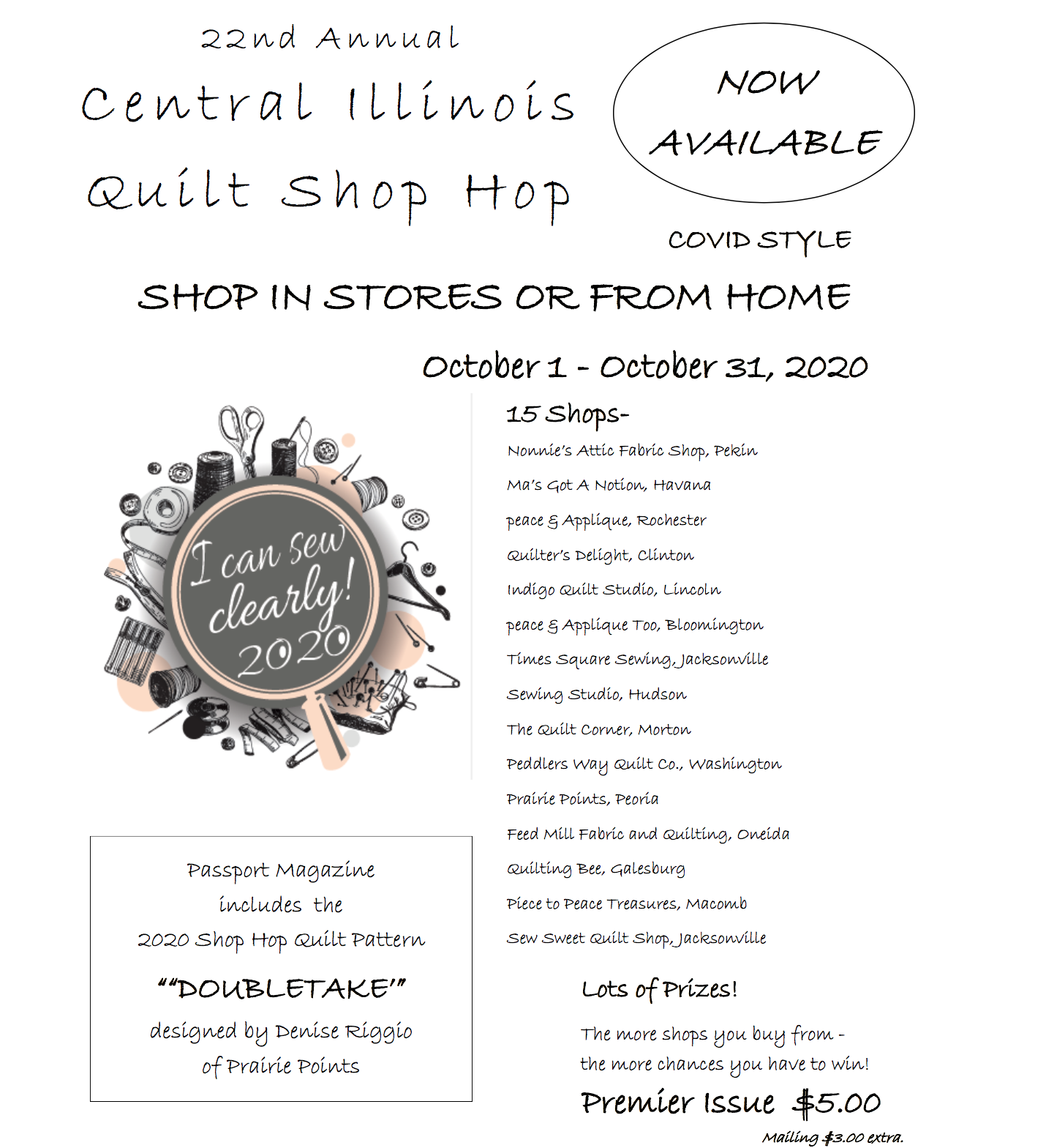 Central Illinois Quilt Shop Hop Magazine