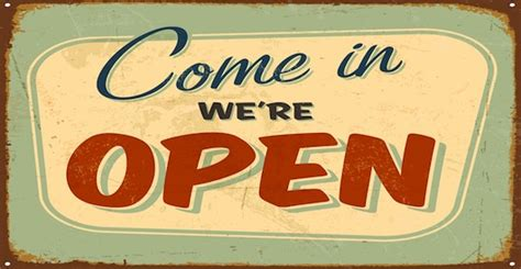 come in we're open image