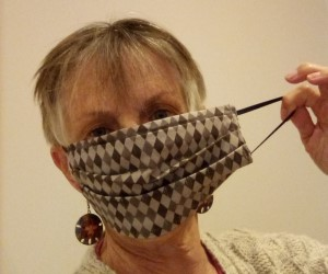 Sue in her mask