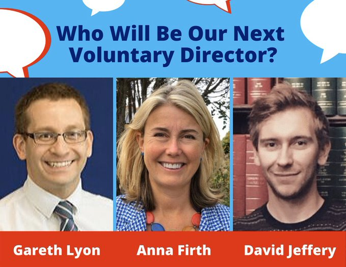 Who will be our next Voluntary Director?